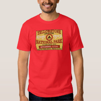Yellowstone National Park Vintage Label Tee Shirts