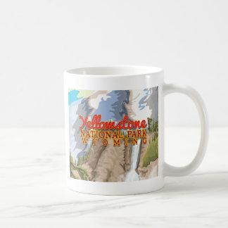 Yellowstone National Park Vintage Poster Basic White Mug