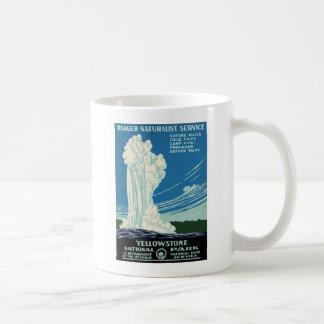 Yellowstone National Park Vintage Poster Mugs