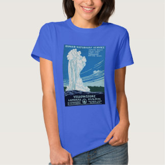 Yellowstone National Park Vintage Poster T Shirt