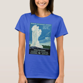 Yellowstone National Park Vintage Poster T-Shirt