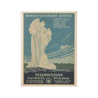 Yellowstone National Park Vintage Poster Wyoming