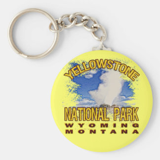 Yellowstone National Park, Wyoming Montana Key Ring