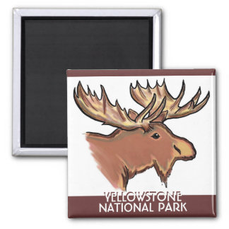 Yellowstone National Park Wyoming moose magnet