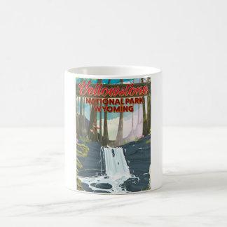 Yellowstone National Park, Wyoming travel poster Magic Mug