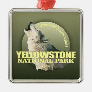 Yellowstone NP (Gray Wolf) WT Christmas Ornament