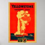 Yellowstone, Old Faithful Advertising Poster