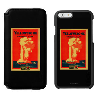 Yellowstone, Old Faithful Advertising Poster Incipio Watson™ iPhone 6 Wallet Case