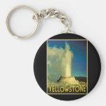 Yellowstone Old Faithful Basic Round Button Key Ring