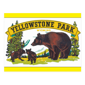 Yellowstone Park_Vintage Travel Poster Artwork Postcard