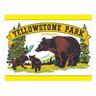 Yellowstone Park_Vintage Travel Poster Artwork Postcard