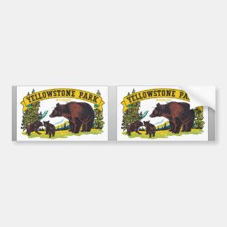 Yellowstone Park Wyoming, Vintage Bumper Sticker