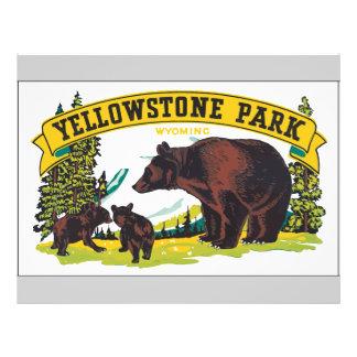 Yellowstone Park Wyoming, Vintage 21.5 Cm X 28 Cm Flyer