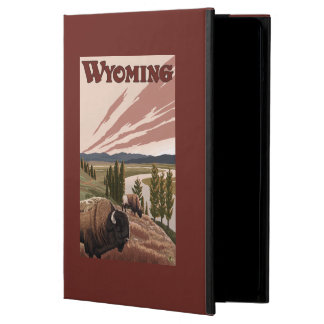Yellowstone River Bison Vintage Travel Poster Case For iPad Air