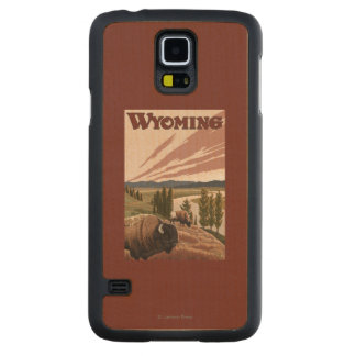 Yellowstone River Bison Vintage Travel Poster Maple Galaxy S5 Case