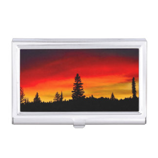 Yellowstone Sunset Business Card Holder