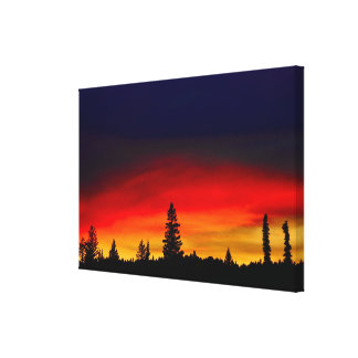 Yellowstone Sunset Canvas Print