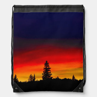 Yellowstone Sunset Drawstring Bag