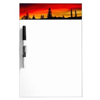 Yellowstone Sunset Dry Erase Whiteboards