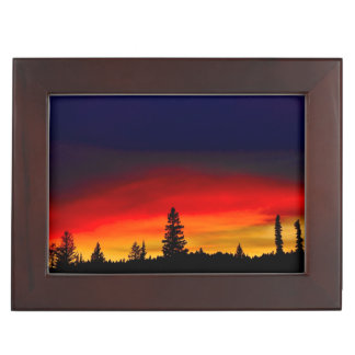 Yellowstone Sunset Keepsake Box