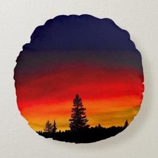 Yellowstone Sunset Round Cushion
