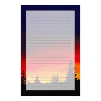 Yellowstone Sunset Stationery