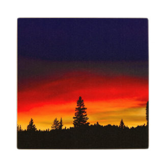 Yellowstone Sunset Wood Coaster