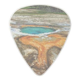 Yellowstone Thermal Pool Acetal Guitar Pick