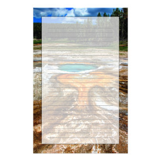 Yellowstone Thermal Pool Customized Stationery