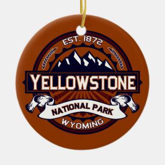 Yellowstone Vibrant Christmas Ornament