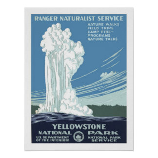 Yellowstone Vintage Travel Poster