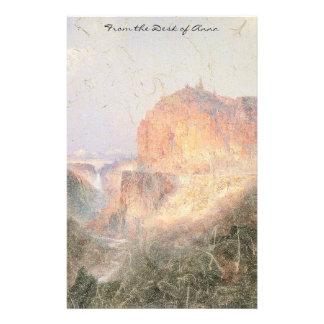 Yellowstone Waterfall River Mountains Stationery