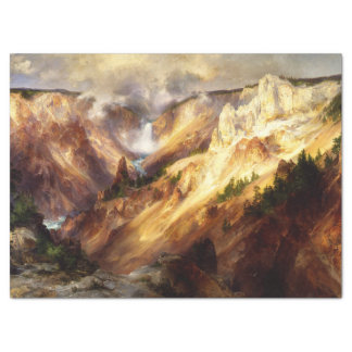 Yellowstone Waterfall River Tissue Paper