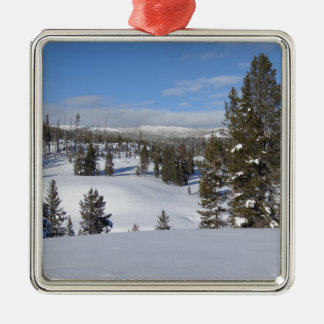 Yellowstone Winter Landscape Photo Christmas Ornament