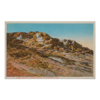 Yellowstone, WYView of Jupiter Terrace Posters
