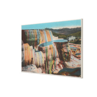 Yellowstone, WYView of Mammoth Hot Springs Canvas Print
