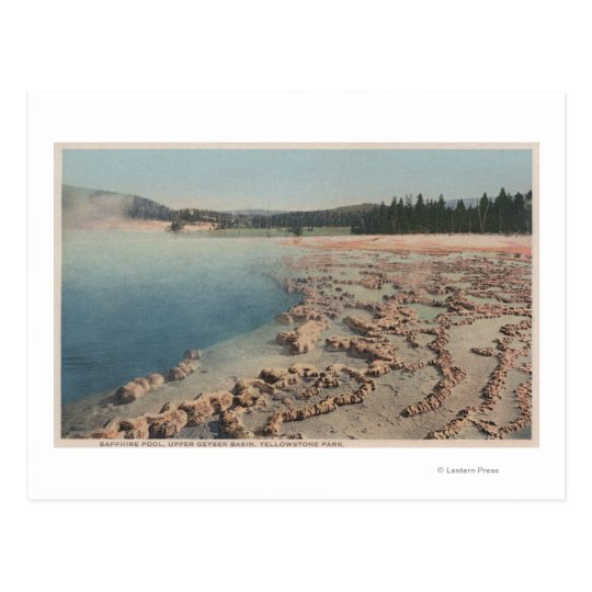 Yellowstone, WYView of Sapphire Pool Postcard