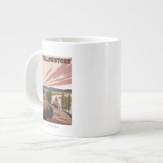 YellowstoneBison Scene Large Coffee Mug