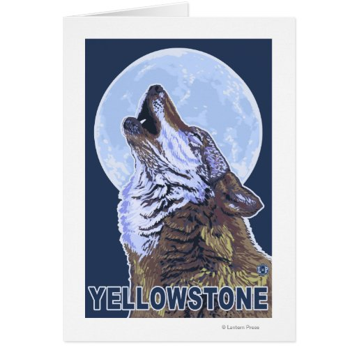 YellowstoneHowling Wolf Cards