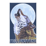 YellowstoneHowling Wolf Gallery Wrapped Canvas