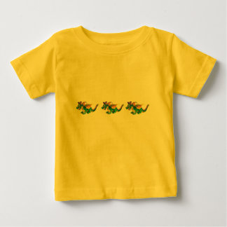 YellowTri-Dragon Baby T-Shirt