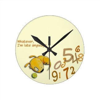 """Yelodoggie """"I'm Late Anyways"""" clock"""