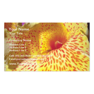 yelow Speckled Yellow flowers Pack Of Standard Business Cards