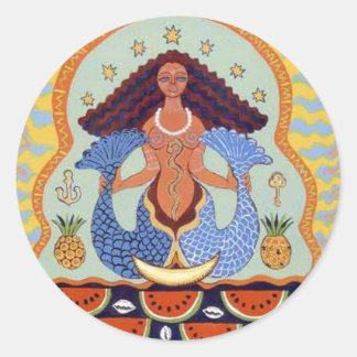 Yemanja Classic Round Sticker