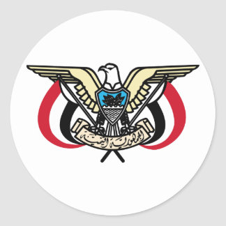 Yemen Coat Of Arms Classic Round Sticker