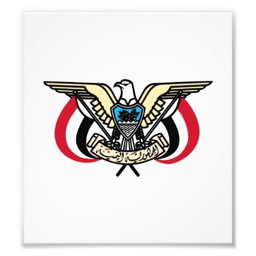 Yemen Coat Of Arms Photographic Print
