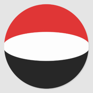 Yemen Fisheye Flag Sticker