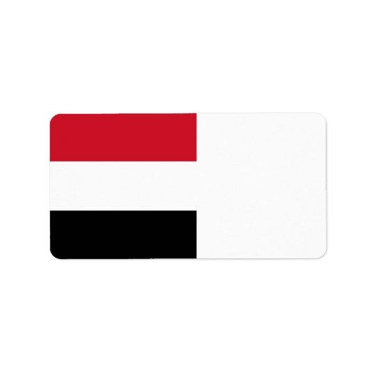 Yemen Flag Address Label