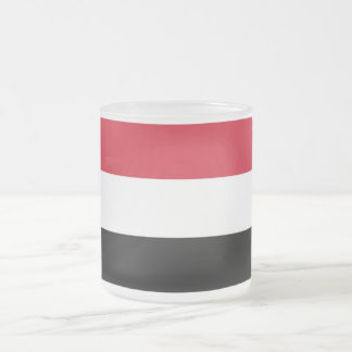 Yemen Flag and Colors Frosted Glass Mug