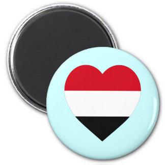 Yemen Flag Heart Magnet